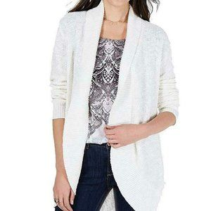 NWT Style & Co Open-Front White Cardigan Size L